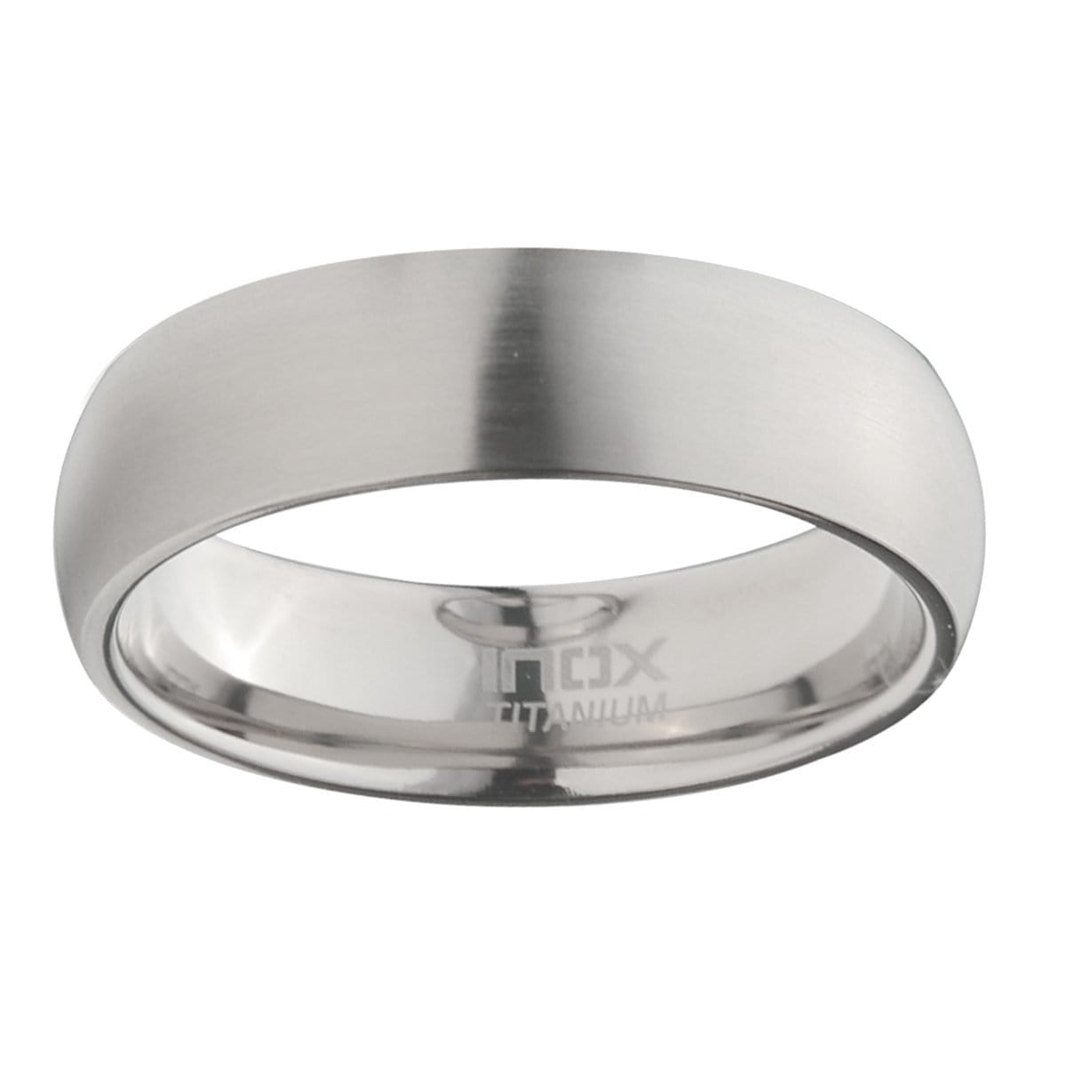 Silver Titanium 7mm Classic Matte Finish Band Ring