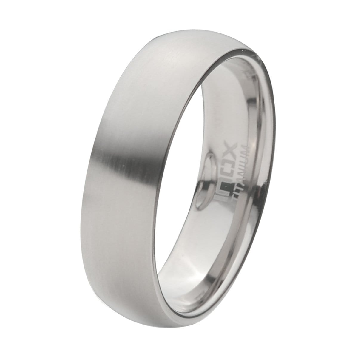 Silver Titanium 7mm Classic Matte Finish Band Ring Rings