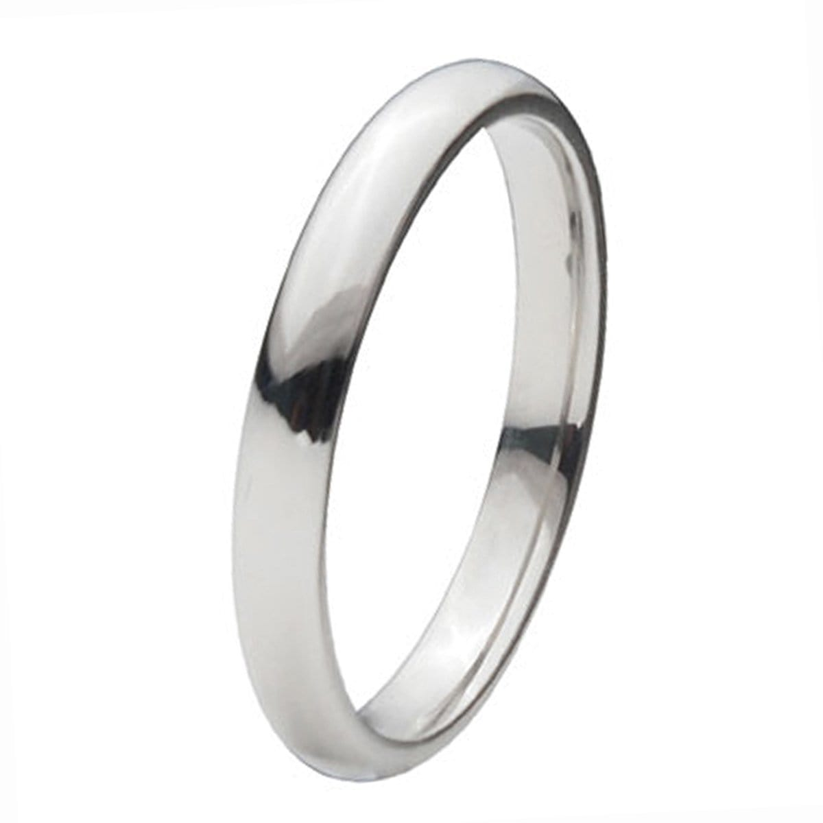 Silver Titanium Classic 3mm Band Ring