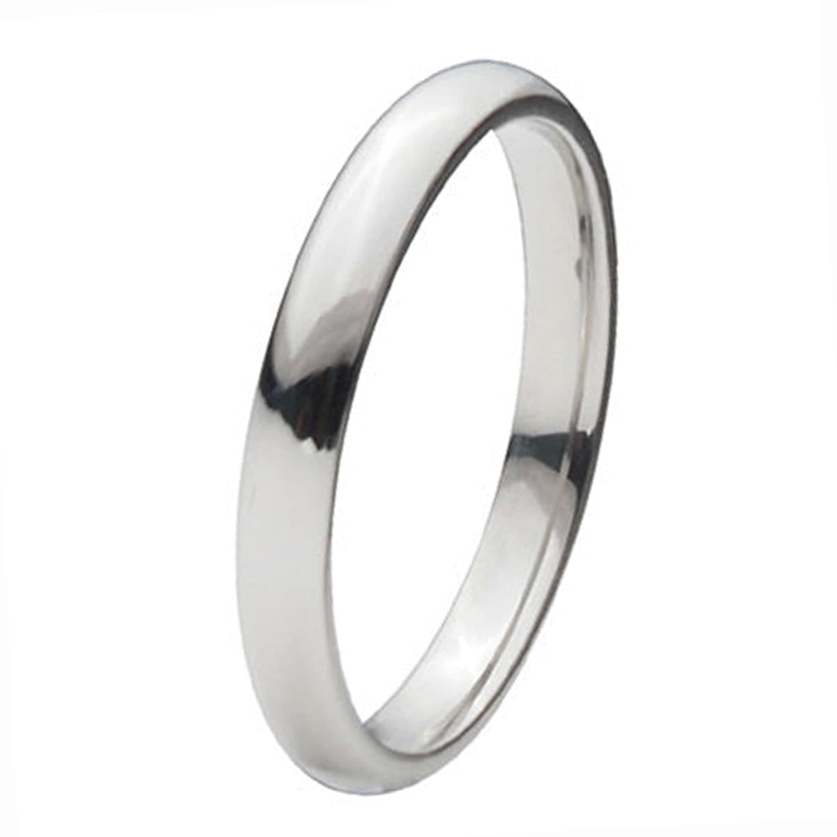 Silver Titanium Classic 3mm Band Rings