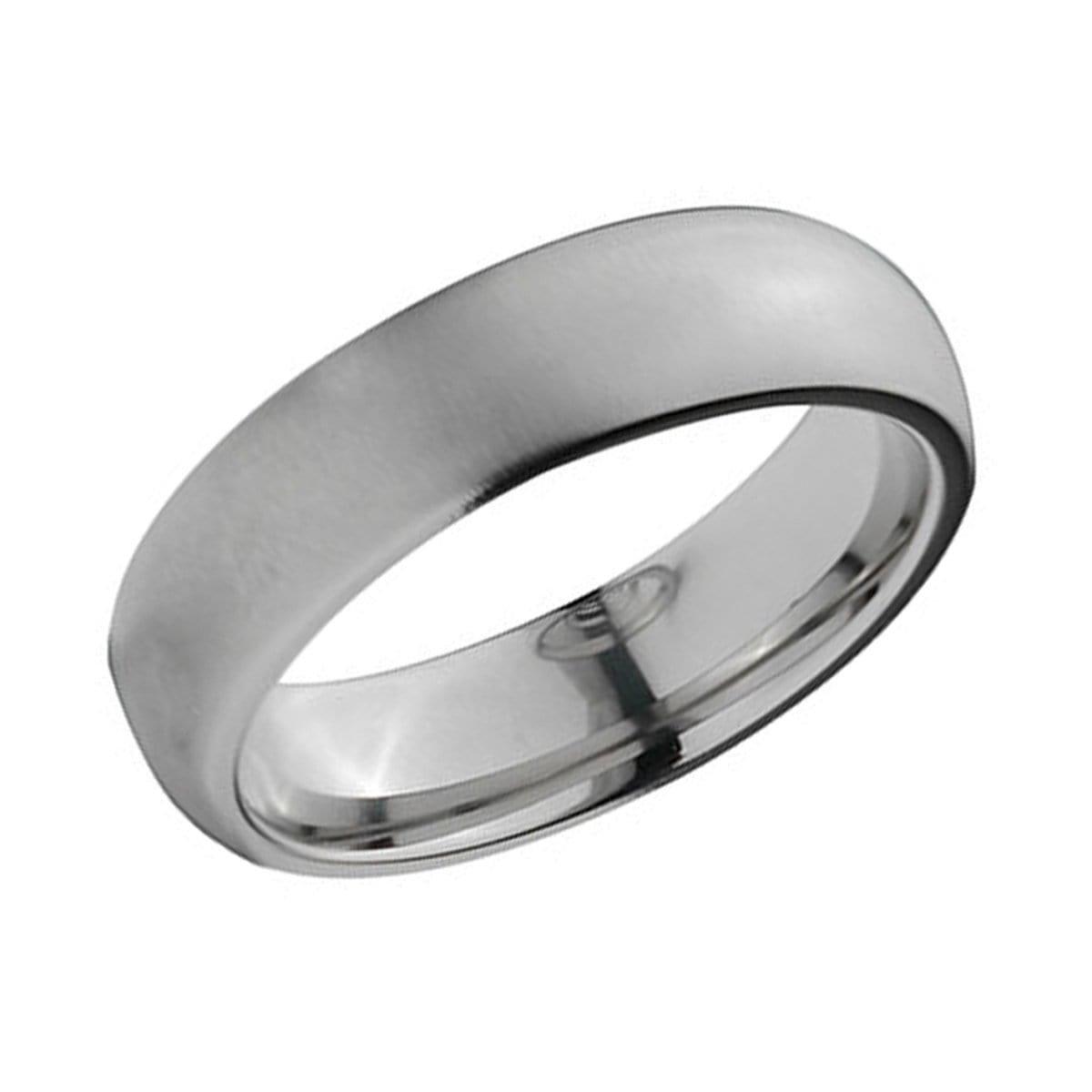 Silver Titanium Classic 6mm Matte Band Ring