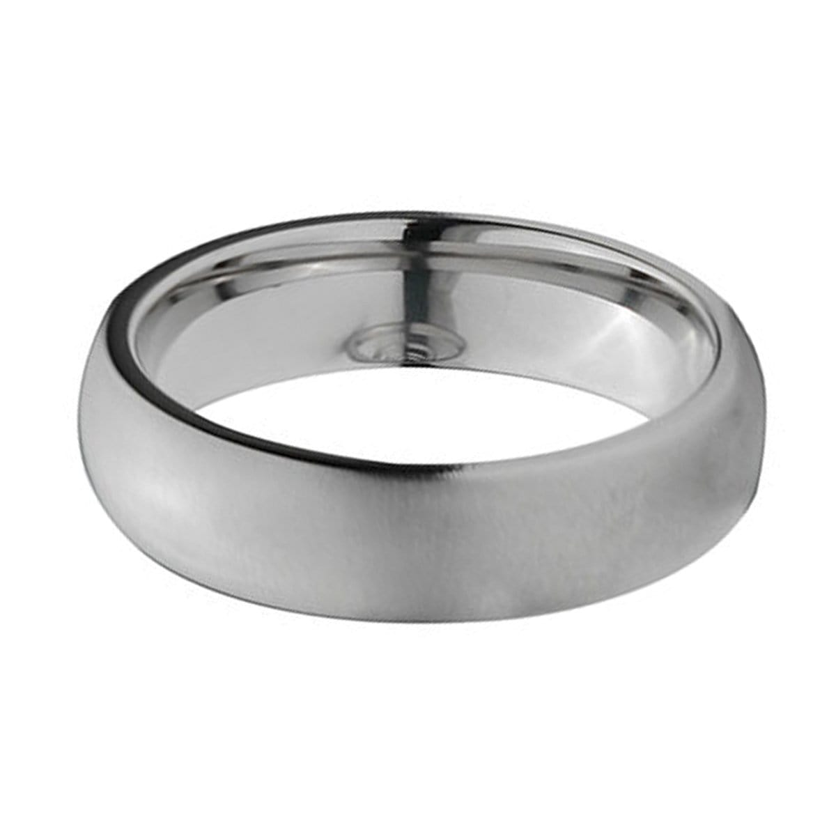 Silver Titanium Classic 6mm Matte Band Ring Rings