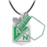 Silver & Green Stainless Steel Columbian Football Team Small Cut-Out Pendant