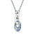 Silver Stainless Steel Starlight Blue Swarovski Pendant & Chain
