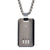 Black & Dark Gray Stainless Steel Truptych Collection CZ ID Tag