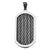 Dark Gray and Silver Stainless Steel Chunky Inlaid Cable ID Tag