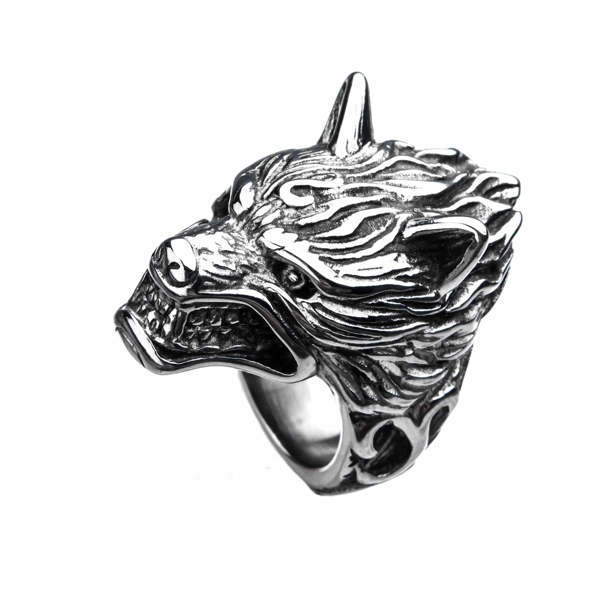 STL 3D WOLF RING SIZE 10