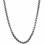 Darkened Silver Stainless Steel 3mm Bold Box Chain