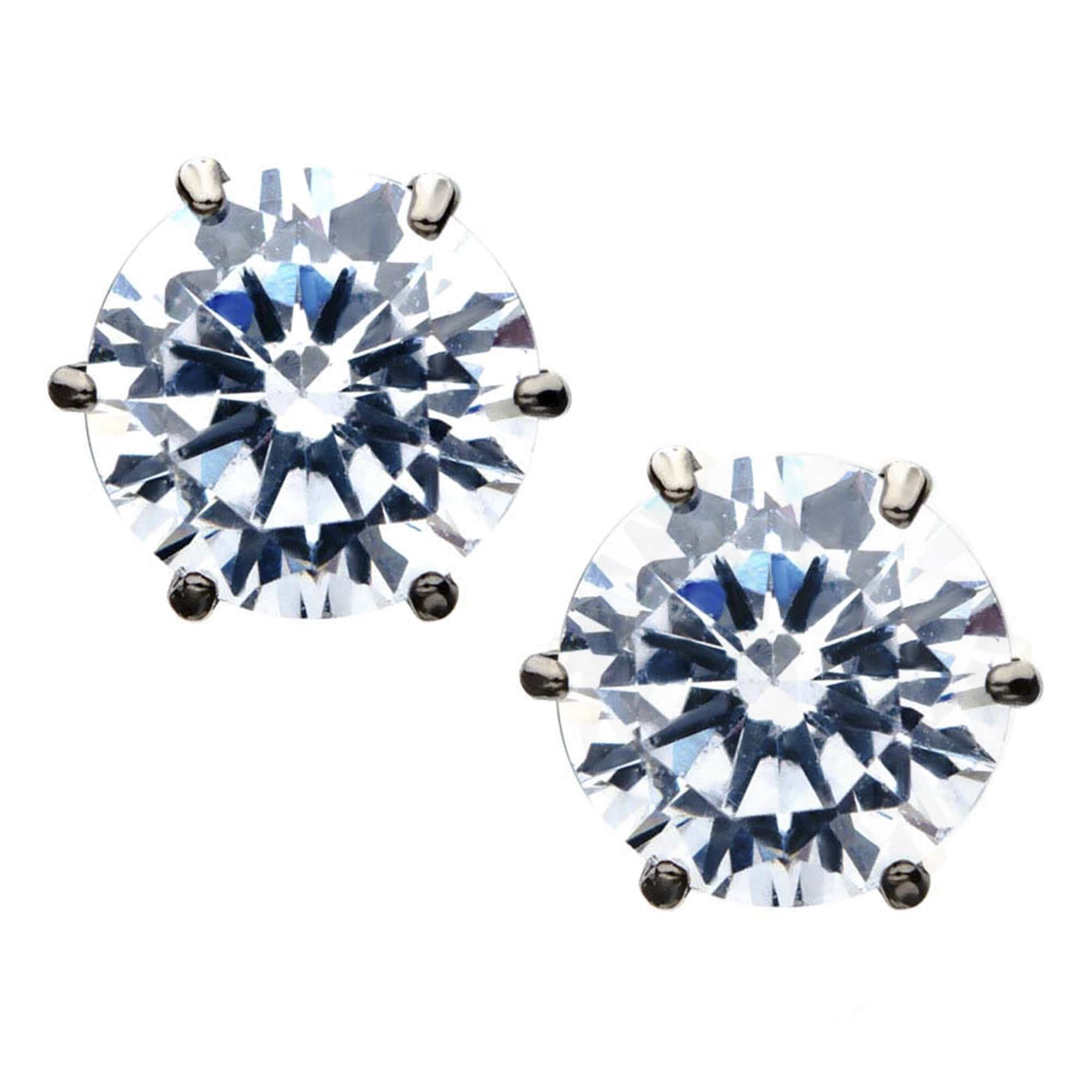 Titanium 5mm ear studs 6prongs