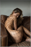 Diamond Fishnet Catsuit