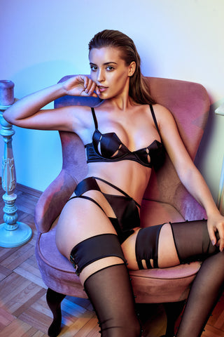 Diamond brazilian knicker - Black