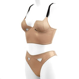 Diamond longline bra - Gold