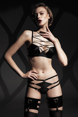 Diamond longline bra - Black