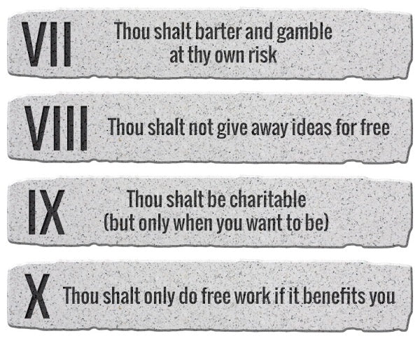 10 Commandments of Working for Free as a Graphic Designer