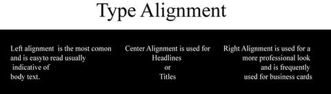 Alignment Typography