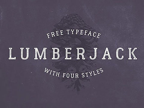 Lumberjack: Free typeface with 4 styles