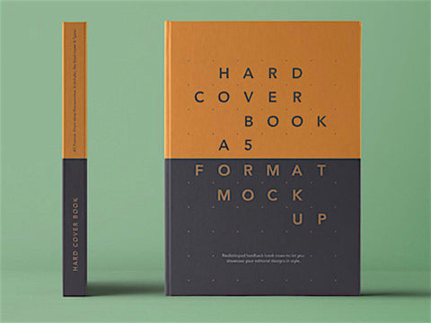 Psd A5 Hardcover Book - Design Resources