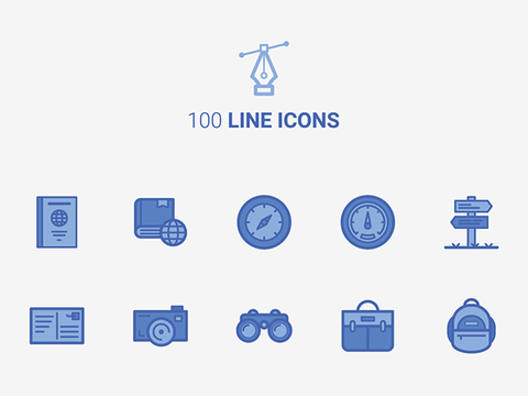 100 Free Line Icons - Design Resources