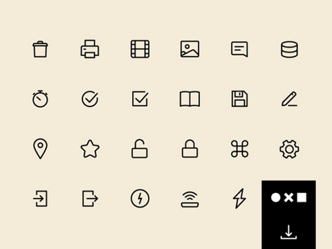 UI 100: A set of SVG essential icons