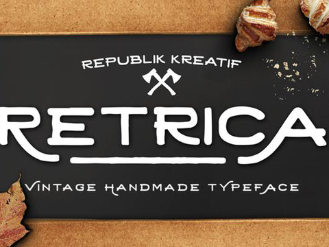 Retrica Typeface - Design Resources