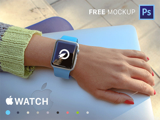 35 Apple Watch PSD mockups - Design Resources