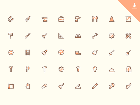 40 Free tool tiny icons - Design Resources