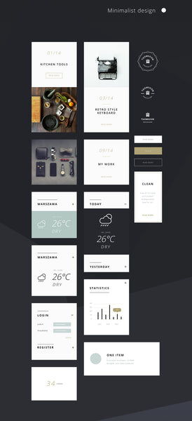 55+ Elements UI kit for building websites - Design Resources