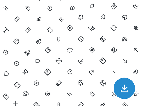 70 Free basic outline icons - Design Resources