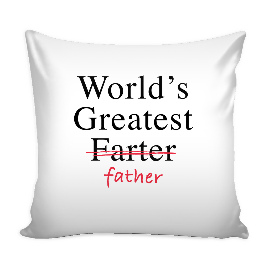 Worlds greatest father pillow
