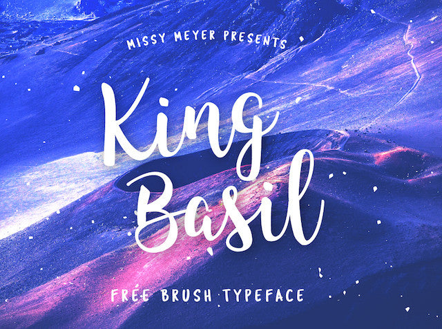 King Basil - Free Brush Font - Design Resources