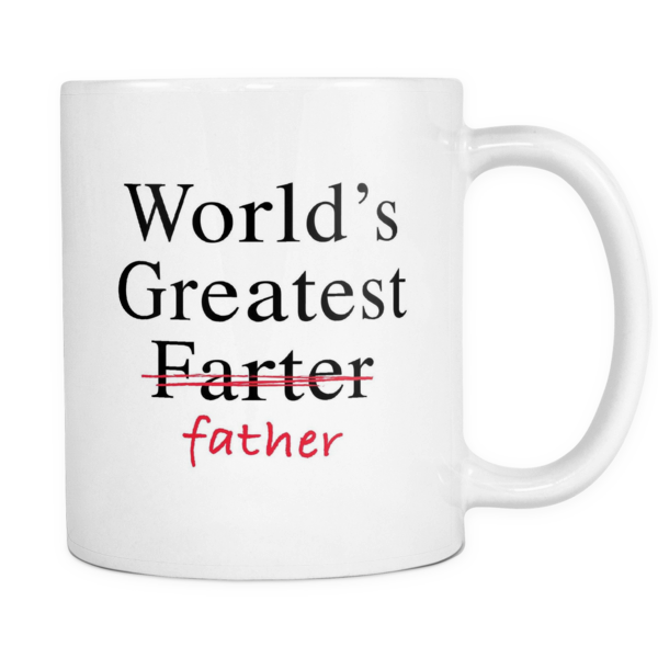Worlds greatest father mug