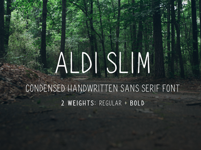 Aldi Slim Font - Design Resources