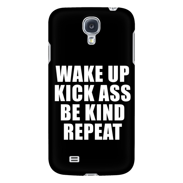 Wake up, kick ass, be kind, repeat phone case - Design Resources