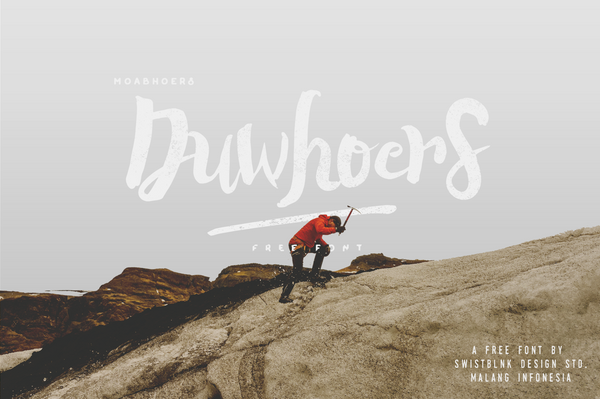 Duwhoers Brush Free Font - desket. - 2
