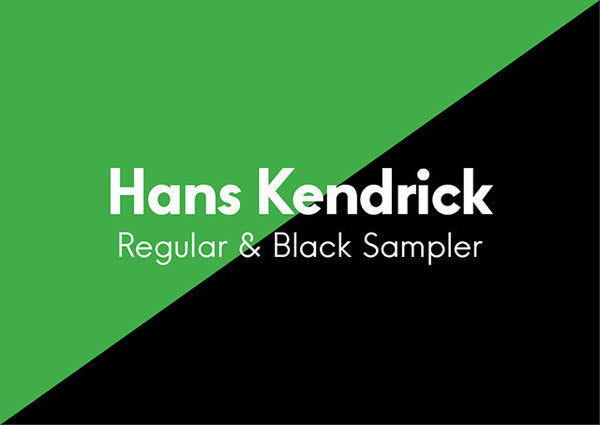 Hans Kendrick Regular & Bold - Design Resources