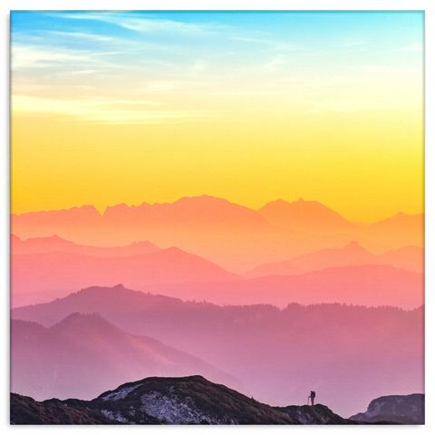 Sunset Canvas Print.