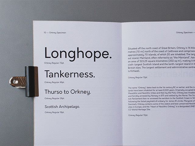 Orkney: A geometric open source typeface - Design Resources