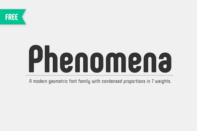 Phenomena: A free font family in 7 weights - Design Resources