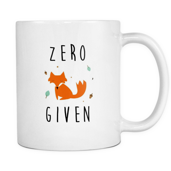 Zero fox given mug - Design Resources