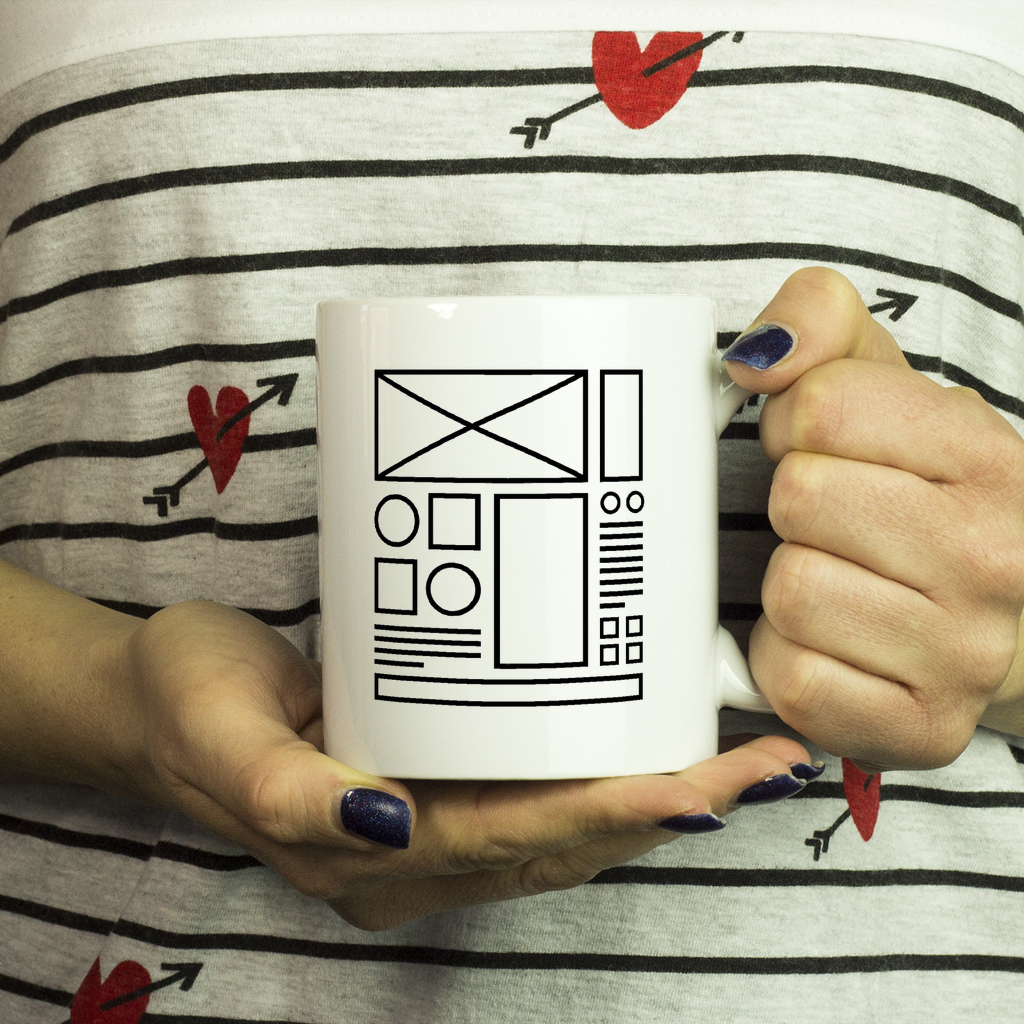 UX/ UI Designer Wireframe Mug - Design Resources