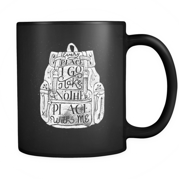 Every place I go I take another place with me mug - Design Resources