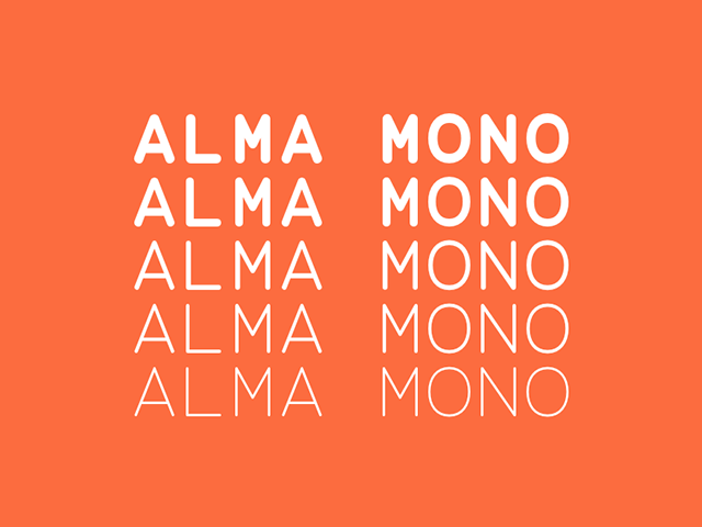 Alma Mono: Free typeface in 5 weights - Design Resources