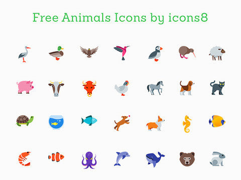 71 Free Animal Icons - Design Resources