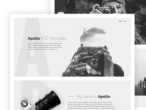 Apollo: One page HTML template for photographers - Design Resources