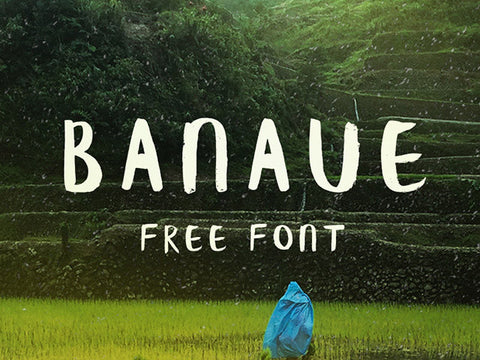 Banaue: Free handwritten brush font - Design Resources