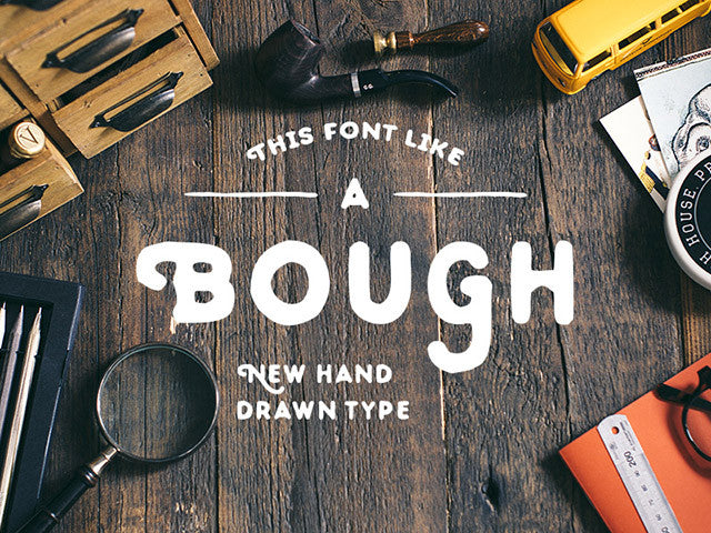 Bough free font - Design Resources