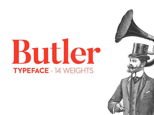 Butler font - Design Resources