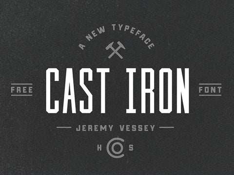 Cast Iron free font - Design Resources