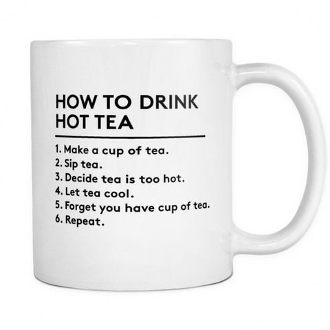 How to drink tea mug