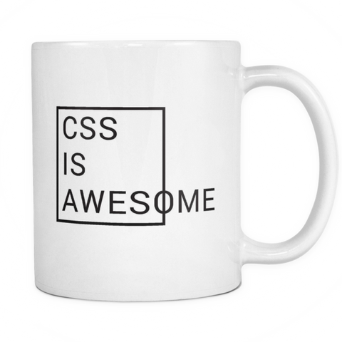 CSS is awesome mug - Design Resources